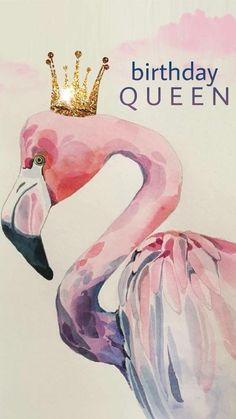 Flamingo Birthday Queen