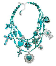 Hearts & Crosses Necklace from Crow's Nest