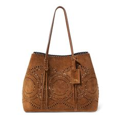 Polo Ralph Lauren Laser-Cut Suede Tote - Polo Ralph Lauren Shop All - Ralph  Lauren Germany 8384602349601
