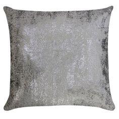 Eos Silver Printed Throw Pillow CL9EOS05AIV