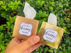 10pack - Mini Happy tears tissue box (Wedding favor) Wedding Tokens, Wedding Favors, Wedding Ceremony, Wedding Day, Wedding Stuff, Happy Tears, Tears Of Joy, Bridesmaid Proposal, Tissue Boxes
