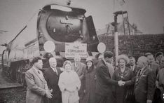 1964. 34002 Salisbury. Last scheduled steam loco to pull a train to Penzance.