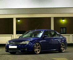 Performance Blue Mondeo ST with TE37 Alloys