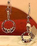 Thomas Gear Jewellers - Cailín Celtic Jewellery Collection - Silver Earrings with CZ centre stones