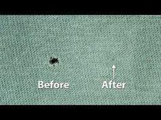 Tips en Weetjes ZO kun je die kleine gaatjes in kleding repareren en er komt geen naald aan te pas!