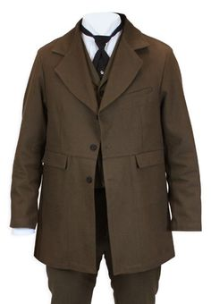Sable Brushed Cotton Town Coat - Brown I already own the Sable trousers and waistcoat. This would look nice as a top layer, completing the outfit for casual wear or for an English hunting party look.