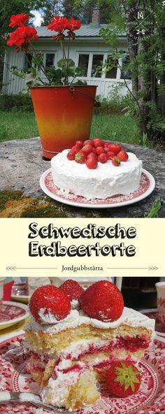 Schwedisches Rezept: Erdbeertorte I Jordgubbstårta, MAHTAVA! Für alle die die nordische Küche lieben!