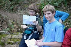 Here is Paul and his fellow scout navigating the mountain on the way up Tiger Mountain. Summit with the Scouts