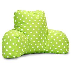 Majestic Home Goods 85907213028 Lime Small Polka Dot Reading Pillow