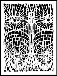 Click here to order the Twinship Stencil by Cecilia Swatton for StencilGirl Products. $14.00