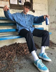 New Vintage Retro Fashion Men Guys Ideas Outfits Hipster, Skater Outfits, Funky Outfits, Mode Outfits, Vintage Outfits, Next Fashion, Future Fashion, Boy Fashion, Skater Fashion