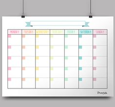 Calendar Monthly Planner - Free Printable on Behance