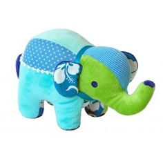 Mix Match Elephant - Blue by Happy Horse from Born Gifted Baby Presents, Baby Gifts, All Toys, Blue V, Toddler Toys, Personalized Baby, Mix Match, Beautiful Babies, Little Boys