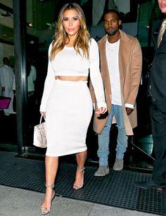 Kim Kardashian, Kanye West Date Night: Star Flaunts Abs in Crop Top - Us Weekly