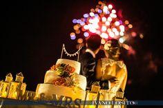 Wedding cake and fireworks...amazing!  www.italianweddingcompany.com