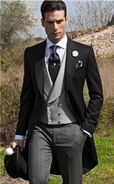 English morning suit..... perfect for traditional wedding. 7 Nov 16 *A*