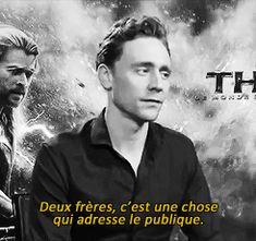 """ Tom Hiddleston speaking french better than french people. """"He (Loki) is not the villain now. He's not the hero. He's in the middle"""" """"Two brothers, it's something that the audience can relate to""""..."