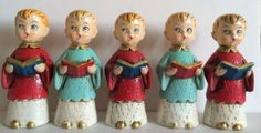 Christmas-Choir-Boys-Caroler-Vtg-1950s-1960s-Made-in-Japan-Chalkware-Set-of-5