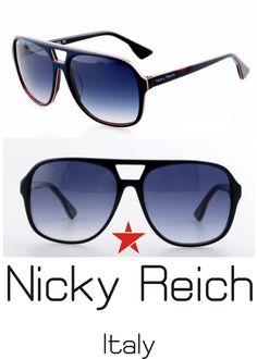 NICKY REICH  Aviator Sunglasses  ACETATE  LENS POLARIZED