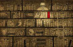 yoote - library illustration  Los libros nos iluminan la vida
