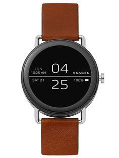 702a2c4809 Skagen Falster Brown Leather Smartwatch  Skagen  Luxury Πολυτέλεια