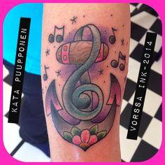 https://www.facebook.com/VorssaInk, http://tattoosbykata.blogspot.fi, #tattoo #tatuointi #katapuupponen #vorssaink #forssa #finland #traditionaltattoo #suomi #oldschool #pin up #musicnote