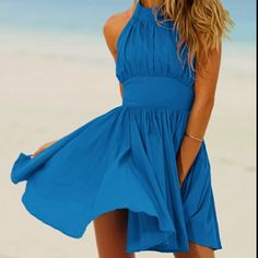 Blue Bridesmaids dress for Beach Wedding. I like this style! Comfy and flattering :D