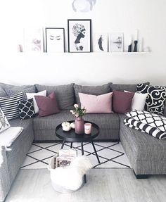 Schwarz/weiß/lila