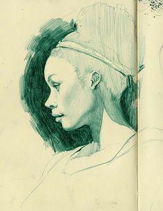 Very nice Moleskine sketch.