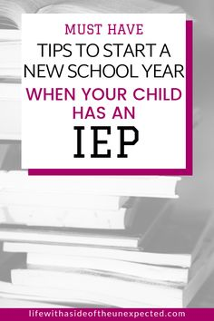 These tips will help your special education student with an IEP start the new school year off strong. Special Needs Mom, Special Needs Students, Classroom Behavior, Special Education Classroom, Back To School Hacks, School Tips, High School, Teaching Life Skills, Practical Parenting