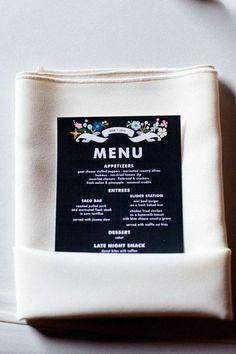Ideas para presentar el menú en una boda