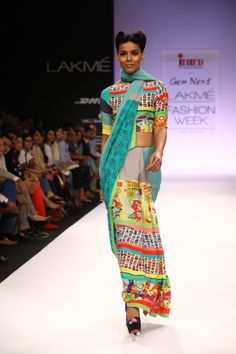 The Quirky Sari for the Quirky Nari.  Shop from WWW.THEQUIRKBOX.COM