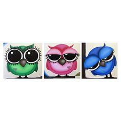 AwAkE sLeePy ZZZzzz OwLs set of 3 20x20 acrylic by art4barewalls