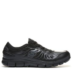 57f5aeedf70 Skechers Work Women s Relaxed Fit Eldred Slip Resistant Work Shoes (Black)  - 11.0 M
