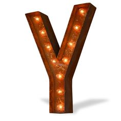 Y Icon Marquee Letter Light from The Rusty Marquee