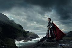 """Roger Federer as King Arthur from The Sword in the Stone - """"Where you're always king of the court"""" - Disney Dream Portrait photos by Annie Leibovitz"""