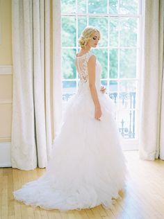 Nicole Spose Wedding Dress | Modern Cinderella Inspired Bridal Shoot | Styling By Mode 20 | Images From Samantha Ward | http://www.rockmywedding.co.uk/modern-day-cinderella/
