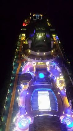 A view from the North Star at night on the Quantum of the Seas. Photo by Marcel Buchert