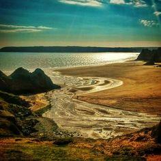 Three Cliffs Bay, Gower, Swansea, South Wales