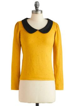 A Lady and a Collar Top, #ModCloth  love the peter pan collar!