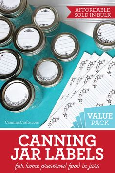 Affordable Value Pack Canning Labels sold in bulk Jam Jar Labels, Canning Jar Labels, Canning Recipes, Canned Strawberries, Honey Bottles, Canning Peaches, Flowers In Jars, Shops, Jelly Jars