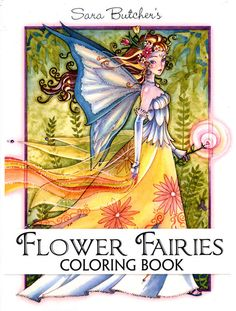 Sara Butchers Flower Fairies Coloring Book