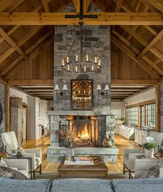 Trending Timber Frame Great Rooms | Davis Frame