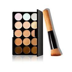 Vovotrade 2016 Newest Design 15 couleurs de maquillage Correcteur Contour Palette + pinceau de maquillage: Tweet Caractéristiques du…