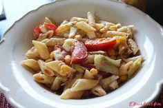 Salát s tuňákem a těstovinami - eKucharka.cz Thing 1, Penne, Fruit Salad, Oatmeal, Pork, Breakfast, Sweet, Ethnic Recipes, The Oatmeal