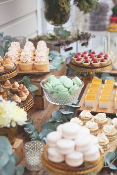 colorful wedding dessert table idea; Featured Photographer: Sweet Style