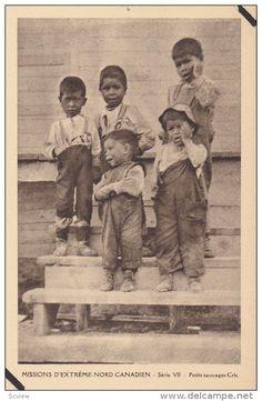 Eskimo Indians , Canada , 1910s : Petits sauvages Cris #3 - Delcampe.com