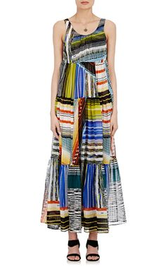 Mixed-Stripe Maxi Dress