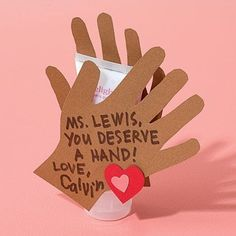 Clap Happy  On February 14, six-year-old Quinlan Adams of Scottsbluff, Nebraska, gives his teachers a big round of applause and a little luxury: a tube of hand lotion.