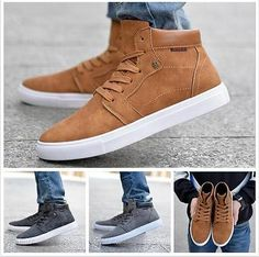 New 2016 Men High Top Shoes fashion Men's Sneakers British Casual canvas Shoes   eBay